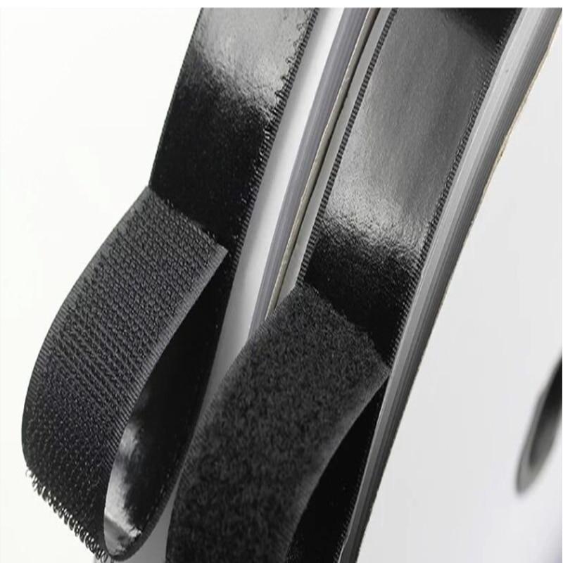 2 рулона 2 см * 1 м черный крюк и петля самоклеящаяся застежка прочная Лента крюк и петля adesivo sugru клейкие ленты