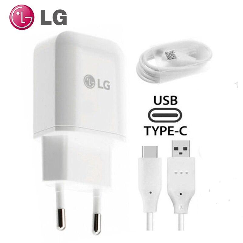 100% Original LG EU MCS-H05ED chargeur mural de voyage rapide + câble de Date USB de Type C pour LG V30 G5 G6 V20