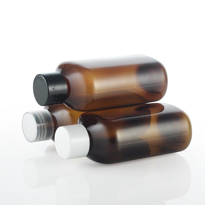 50 шт 125 мл коричневая пластиковая бутылка с белым/черным/прозрачным покрытием, 125CC Тонер для воды под водой, пустой косметический контейнер