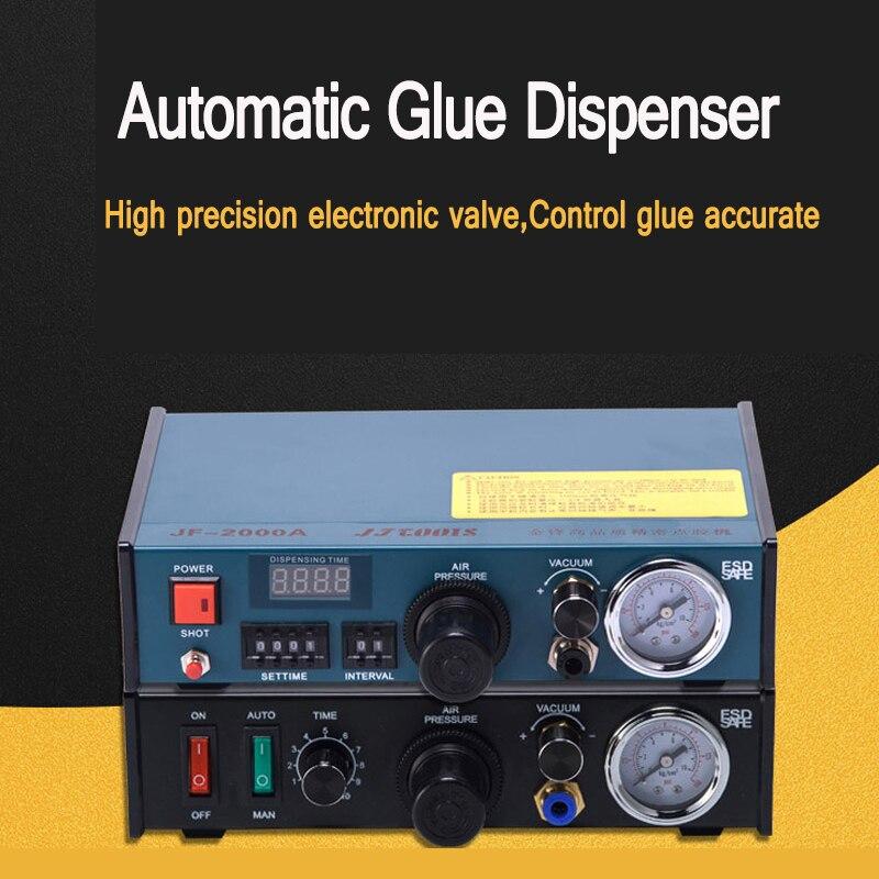 Máquina dispensadora neumática de pantalla digital automática, máquina de inyección de pegamento AB de fusión en caliente, máquina de pegamento de inyección de tres ejes JF-2000A