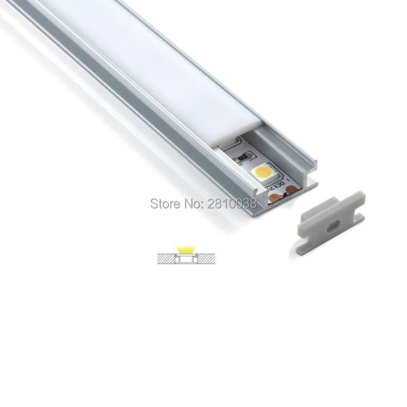 300 X 2M Sets/Lot H type aluminum led channel and flat I shape alu profile for ground or floor light