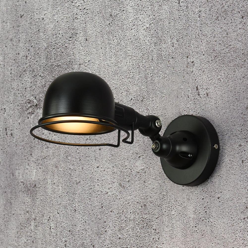 Loft industriel jielde mini-lampes murales, éclairage de chevet salon, rétro, E14 lumières sous forme de Sconce, luminaires muraux pour léclairage de la maison