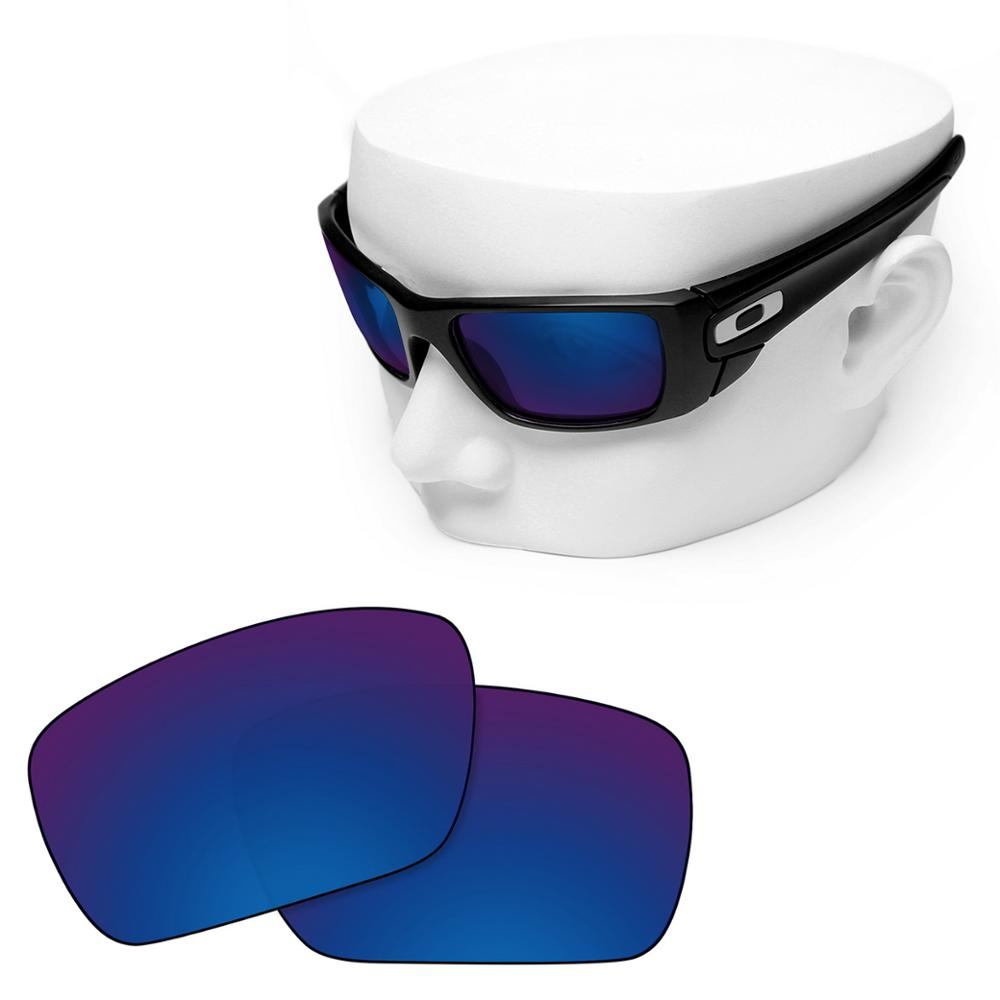 OOWLIT Polarized Replacement Lenses of Deep Water for-Oakley Fuel Cell Sunglasses