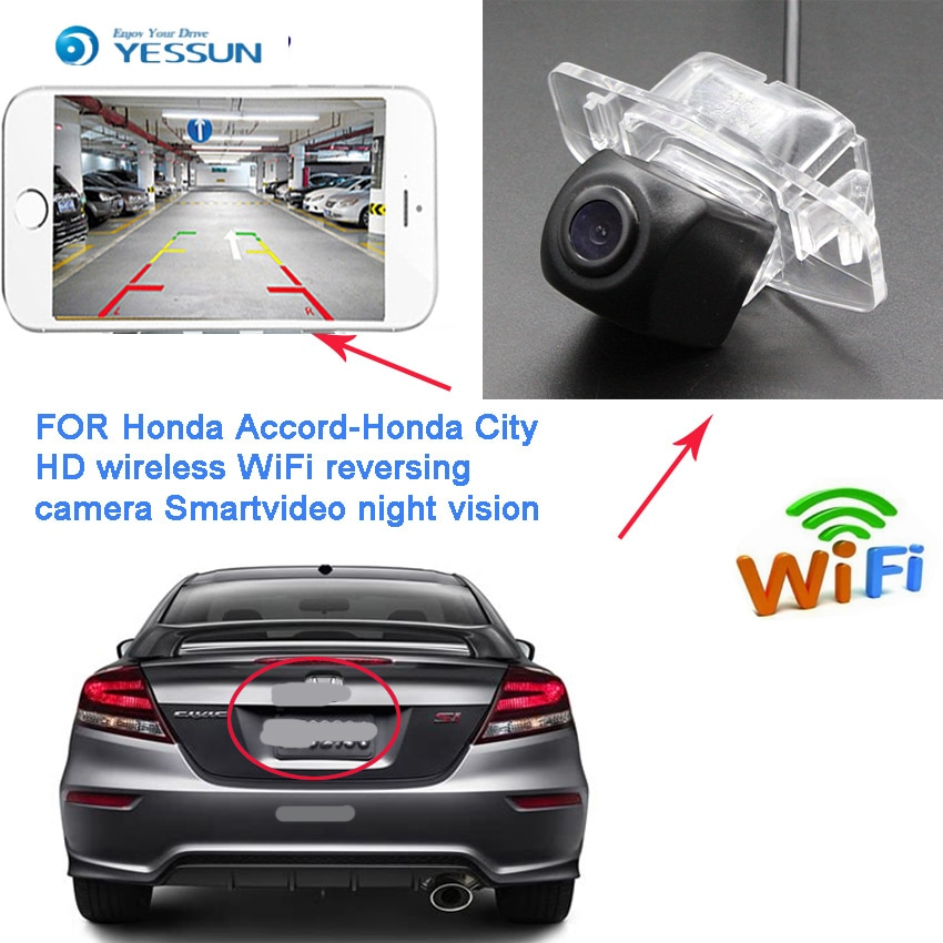 YESSUN nueva Ariiva para Honda Accord Spirior 2012 ~ 2015 Honda Civic 9 generación FB visión nocturna cámara inalámbrica HD inversa