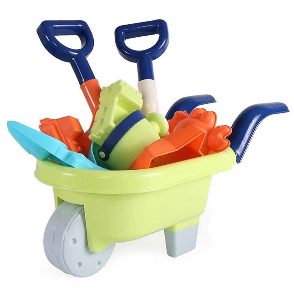 Набор детских пляжных игрушек, силиконовая лопатка, набор инструментов, детский летний пляжный набор для игры в песок, ведро, грабли, песочные часы, набор игрушек