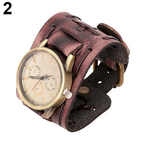 reloj hombre 2018 Vintage Faux Leather Quartz Analog Wristband Casual Men's Bracelet Wrist Watch Wristwatches watch men