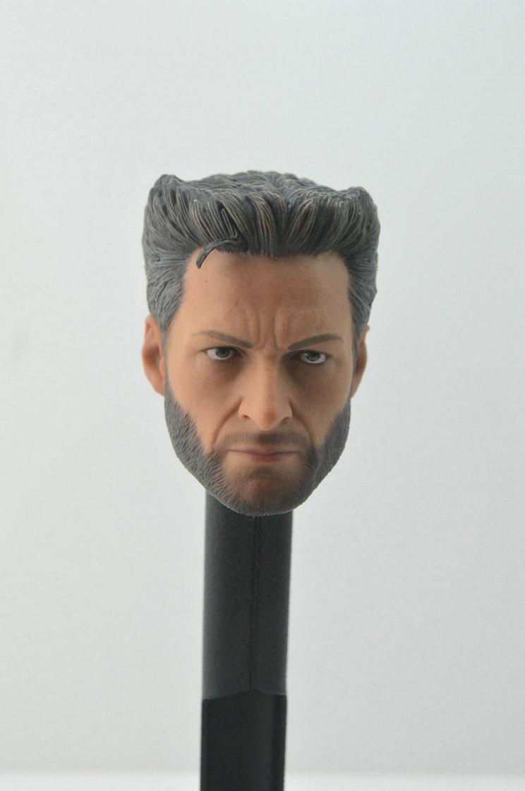 Figura a escala 1/6 de Hugo Jackman, Lobezno x-men, cabeza esculpida para cuerpo de 12