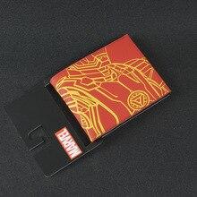 DC Marvel Comics PVC Bags Ironman Wallet Men European America Style Anime Purse Red portefeuille homme Wallets cartera