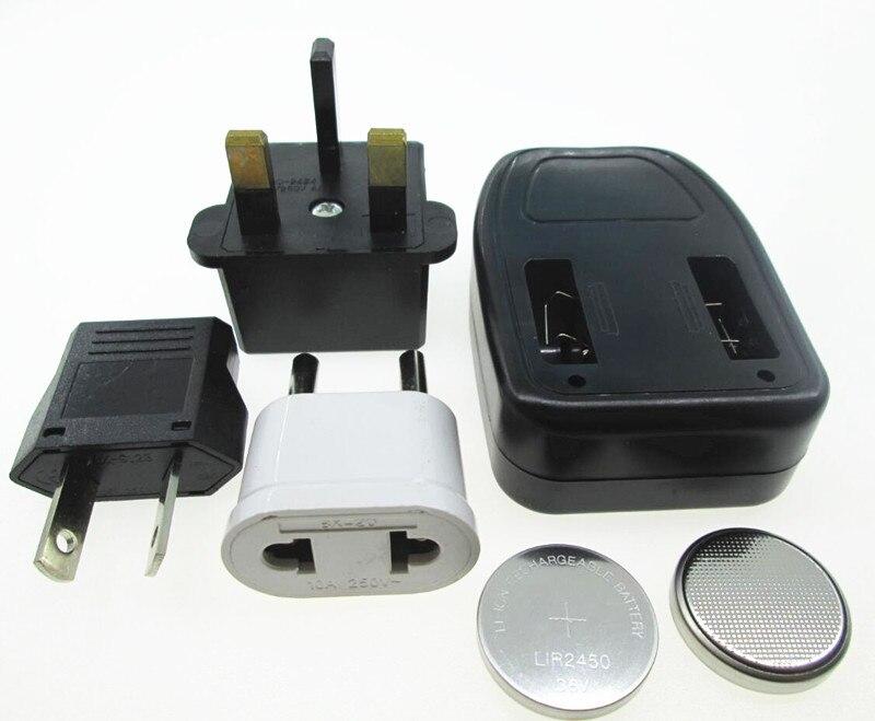 Batería de litio recargable LIR2450 de 3,6 V y 120mah con 2 baterías + 1 cargador