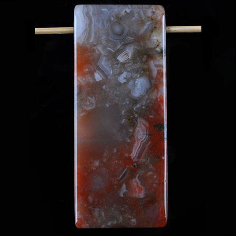 Натуральный Crazy Carnelian россыпью Бисера Драгоценный камень кулон (сверление слева направо) Ювелирные изделия S1006