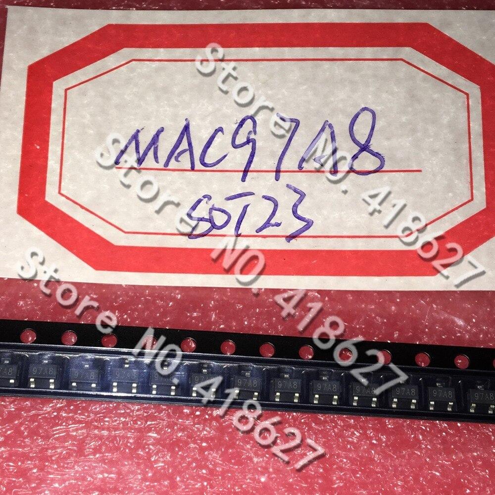 50 unids/lote MAC97A8 97A8 0.8A600V tiristor bidireccional SOT-23 tiristor parche transistor