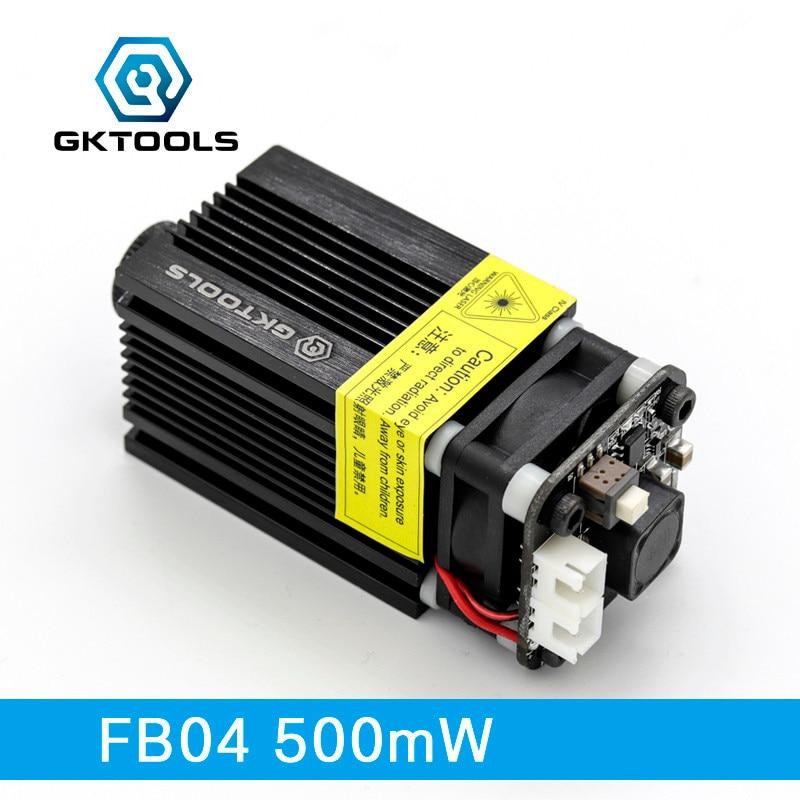 GKTOOLS,405nm 500mW Blue Laser Head Diode Cutting Module For DIY CNC Laser Engraver Support TTL/PWM Power Adjustable FB04-500