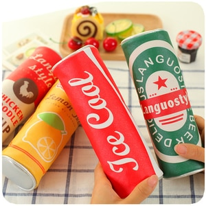 Kawaii Beverage cans Pencil Bags Cute lapices school Pencil Case Large Capacity School Supplies Stationery Pen bag