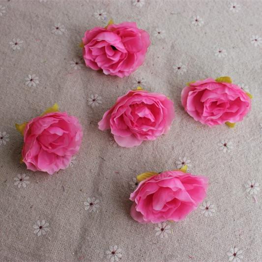 10 piezas de bonquet diferentes colores flor Hibiscus ramo de flores/Scrapbooking flor simulación artificial flores falsas