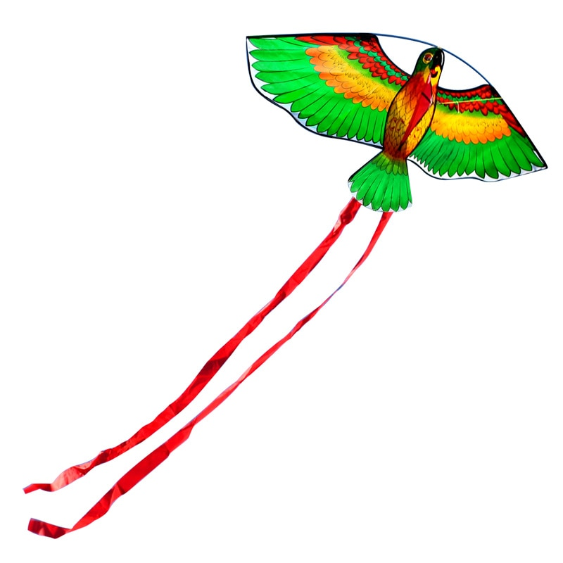 Outdoor Fun Sports New Arrive 110cm/43inches Parrot Kite/ Animal Kites With Handle & Line Good Flying