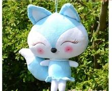 new creative plush blue fox toy stuffed beauty fox doll gift about 50cm