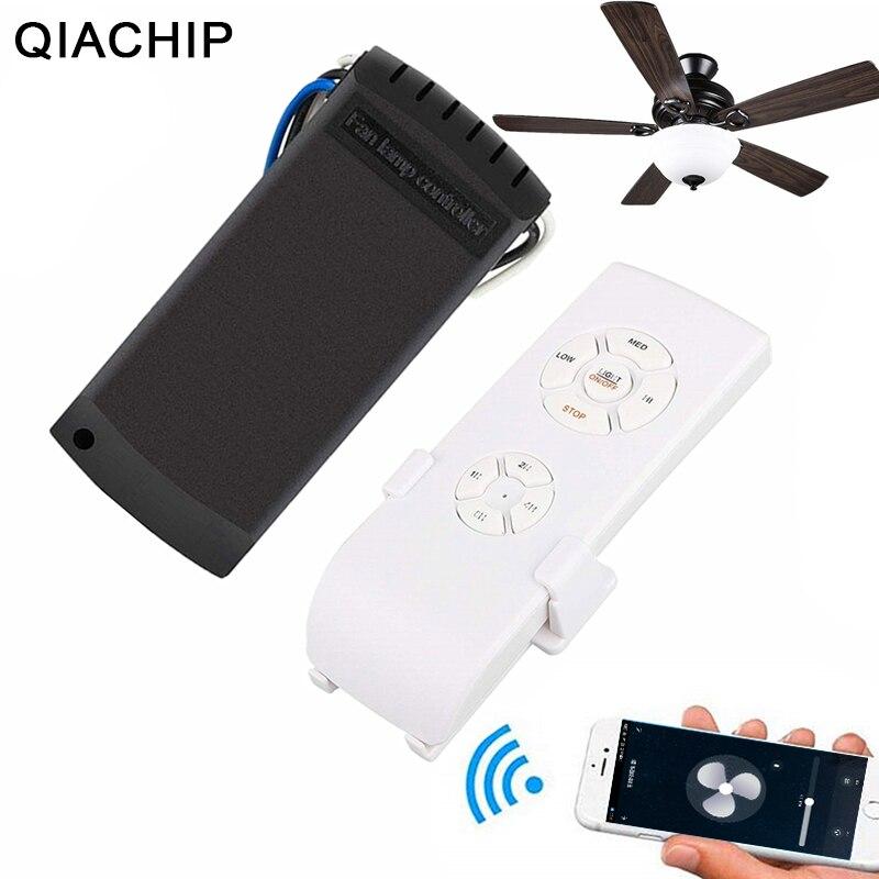 QIACHP Wifi ventilateur de plafond télécommande intelligente interrupteur minuterie ventilateur variateur de vitesse contrôleur fonctionne avec Alexa Google Home AC 110V 220V