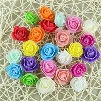 Mini roses artificielles en mousse PE  3cm  fausses fleurs  faites a la main  pour un mariage  pour decorer la maison  a usages multiples