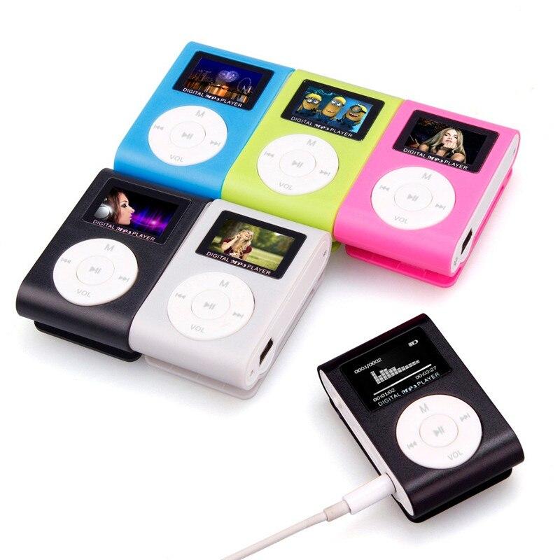 2018 USB pantalla LCD Mini Clip MP3 reproductor de música soporte Micro SD de 32GB caja para tarjeta TF MP3 jugador Electronica # MA24 Dropshipping. Exclusivo.