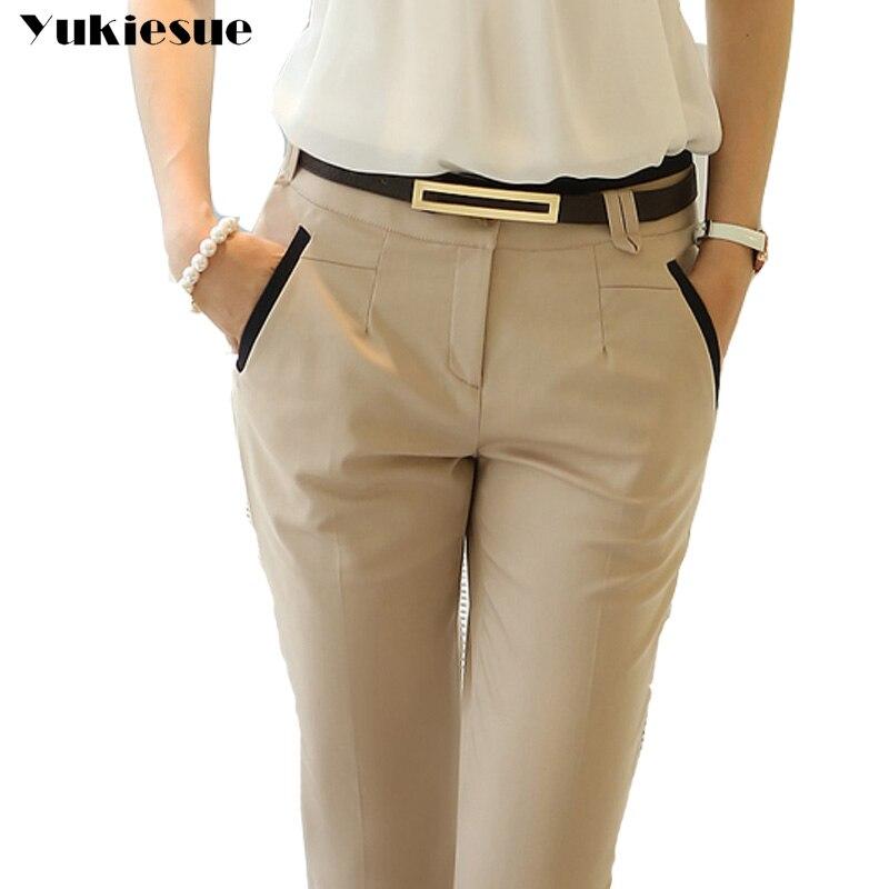 OL-traje de Ropa de Trabajo de oficina para mujer, pantalones de pitillo...