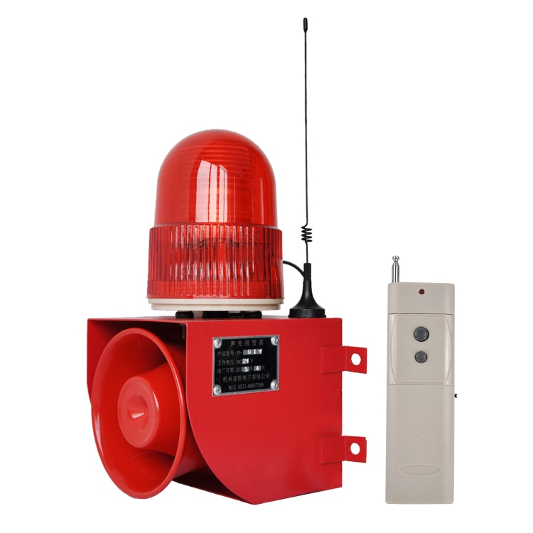 YS-01Y Sound and light alarm 115dB siren safety alarm Industrial alarm kit flashing light Security Alarm wireless control enlarge