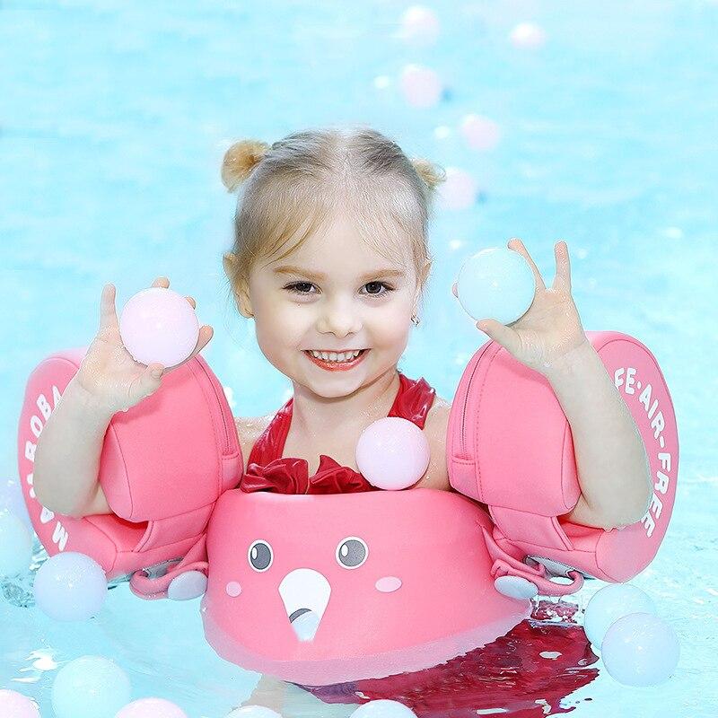 Acessórios de natação infláveis para bebês, gola anti-giratória para bebês de 0-6 anos de idade, livre para natação e anel navio da gota