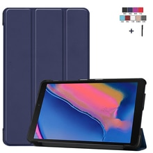 Réveil Housse Pour Samsung Galaxy Tab A 8.0 P200 P205 SM-P200 SM-P205 Aimant Flip PU Cuir Capa Fundas + Stylet