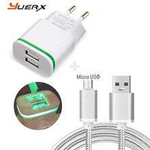 2 ports EU Plug accueil voyage chargeur + 3FT Micro USB câble pour Microsoft Lumia 640XL 850 750 640 535 540 550 532 pour Nokia 6 câble