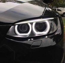 For BMW 1 Series E82 E88 E87 E81 2008-11 Xenon headlight High Quality DTM Style White Crystal LED angel eyes Day light