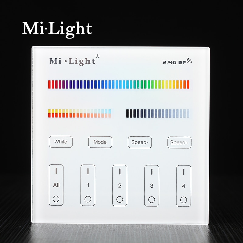 Milight B4 4-зоны RGB RGBW + CCT смарт-панель Пульт дистанционного управления для светодиодной полосы света лампы или лампы