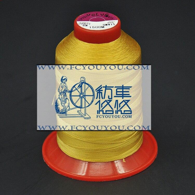 Línea de productos especiales, Dongguan fabricantes para producir 150D línea amarilla