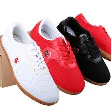 Blanc noir rouge toile marque qualité en cours dexécution Kung Fu Wushu Taichi Tai Ji chaussures TaiJi pantoufle Art Martial baskets Taekwondo chaussures