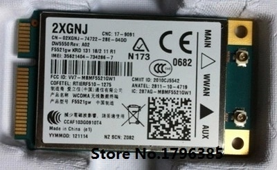 Desbloqueado DW5550 F5521gw para Ericsson inalámbrico 3G WCDMA HSPA WWAN Mini PCI-E tarjeta GPS para Dell E6420 5520, 6220, 6320, 6420, 6520 XT3