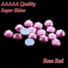 AAAAA-strass de luxe couleur Rose   SS6 SS10 SS16 SS20, cristaux de verre, Flatback fer sur les strass Hot Fix