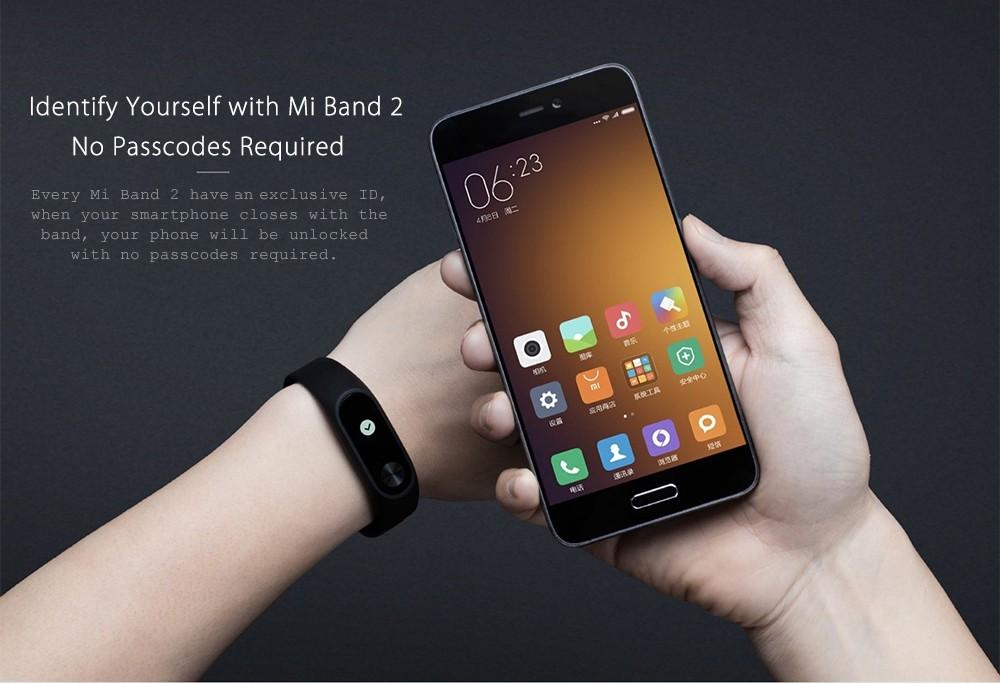 Originale xiaomi mi kompania 2 miband inteligentne centrum vigilanza del braccialetto del nadgarstek monitor oled sonno touchpad della frequ 10