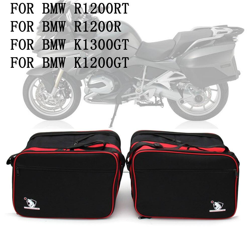 Para Liner BMW R1200RT R1200GT R1200R K1300GT bolsas de equipaje para motocicletas negras bolsas interiores expansibles