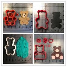 Ensemble de coupe-biscuits imprimés 3D   Jolis outils de décoration de gâteaux ours en peluche, moules à cupcakes, accessoires de cuisine