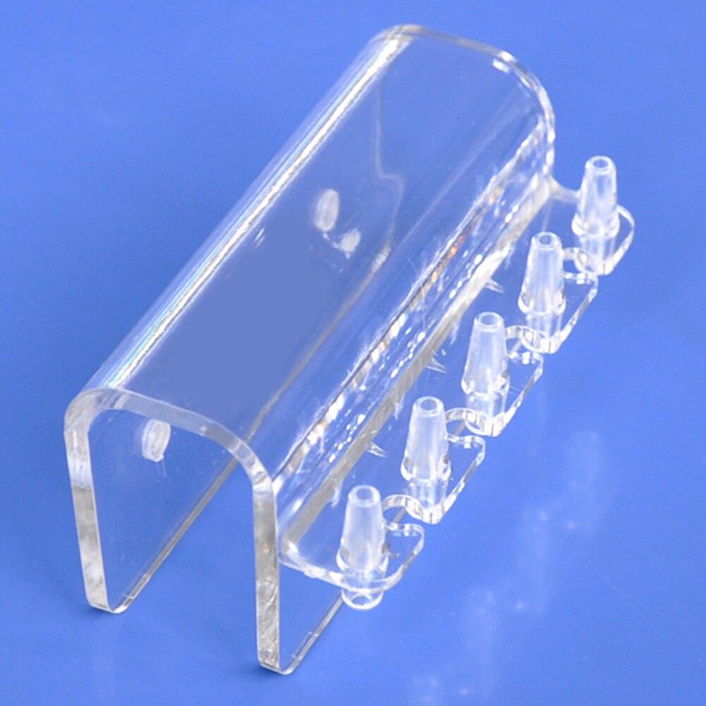 5 tubos transparentes, suministros de colgador de tuberías, soporte de Abrazadera múltiple, soporte de accesorio de manguera suave, soporte de bomba dosificadora para acuario, soporte de PC para peces