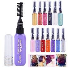13 farben Einfach Zu Bedienen Haar Farbe Rosa Weiß Grau Lila Blau Haar Dye Chalk Design Buntstifte Temporäre mit Kamm TSLM2
