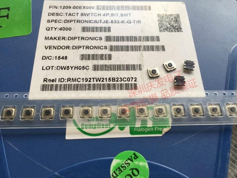 Тайвань Yuanda DIP TJE-533K-Q-T/R такт переключатель 4*4*1,5 патч 4 фута миллион жизни