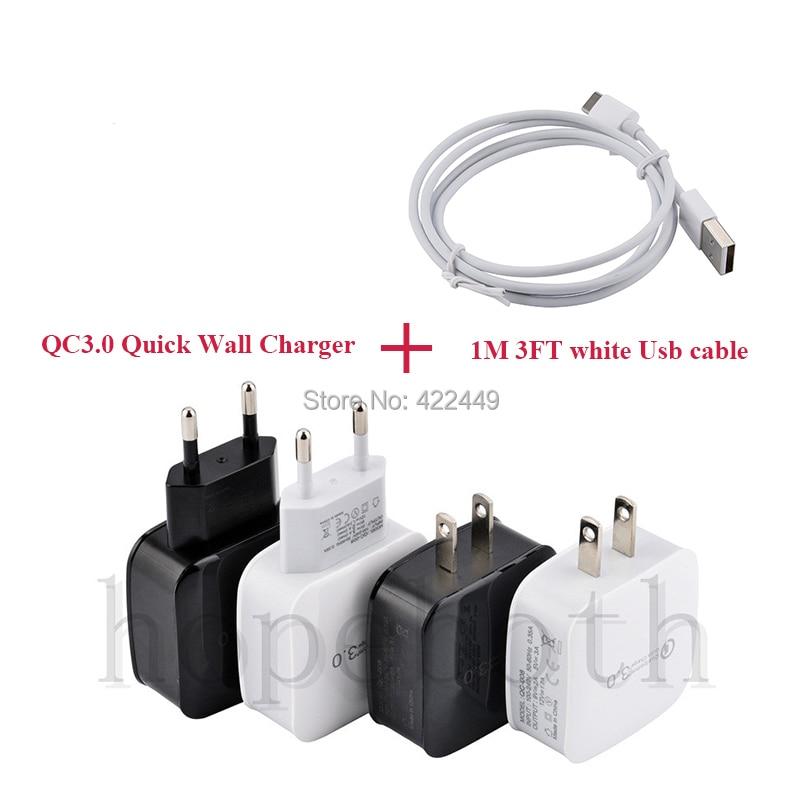 20 pcs universal usb carga rapida 30 5v 3a para iphone 7 8 ue eua plugue do telefone