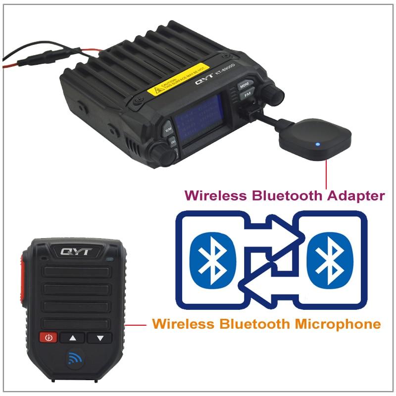 QYT BT-89 BT89 بلوتوث اللاسلكية المحمولة MCIROPHONE وسماعات 8 دبوس ل QYT KT-8900 ، KT-8900R ، KT-7900D ، KT-8900D المحمول راديو