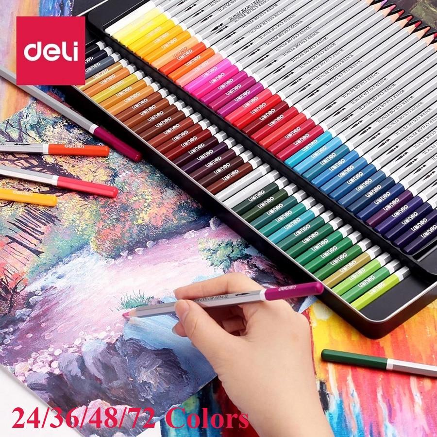 24 36 48 72 lapislázuli de cor lápices de colores profesionales 72 lápices de plomo de acuarela lápiz de color soluble en agua juego suministros arte