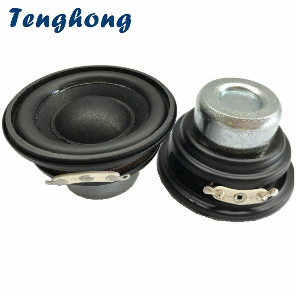 2 uds. De altavoces Bluetooth de 2 pulgadas Mini Subwoofer de 52MM y 20 núcleos de Tenghong, altavoces de bajos de Audio portátiles de 4/8Ohm y 10W para altavoces de Robot