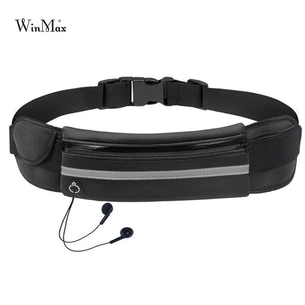 Nuevo riñonera para correr al aire libre impermeable teléfono móvil soporte Jogging Belt Belly Bag mujer Gym Fitness Bag Lady Sport Accessories