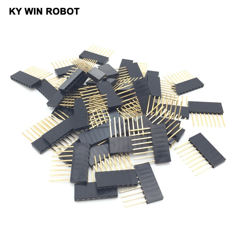 50pcs lot special female header connector pc104 long female header connector 2 54 spacing 1 8 8p pin 11mm 50pcs/lot Special Female Header Connector PC104 long Female Header Connector 2.54 spacing 1*8/8P pin 11MM