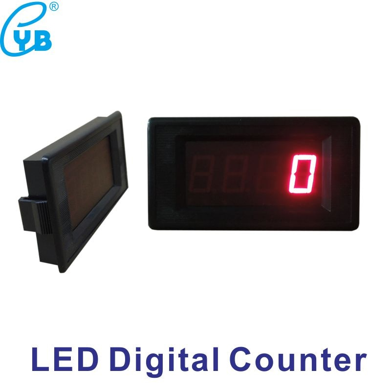 Frete Grátis Poder DC5V Monitor Digital 0 4-Dígitos LEVOU Contador Contador Elétrico-9999 Acumulação de menos do que 2000 hz Dígitos Vermelhos