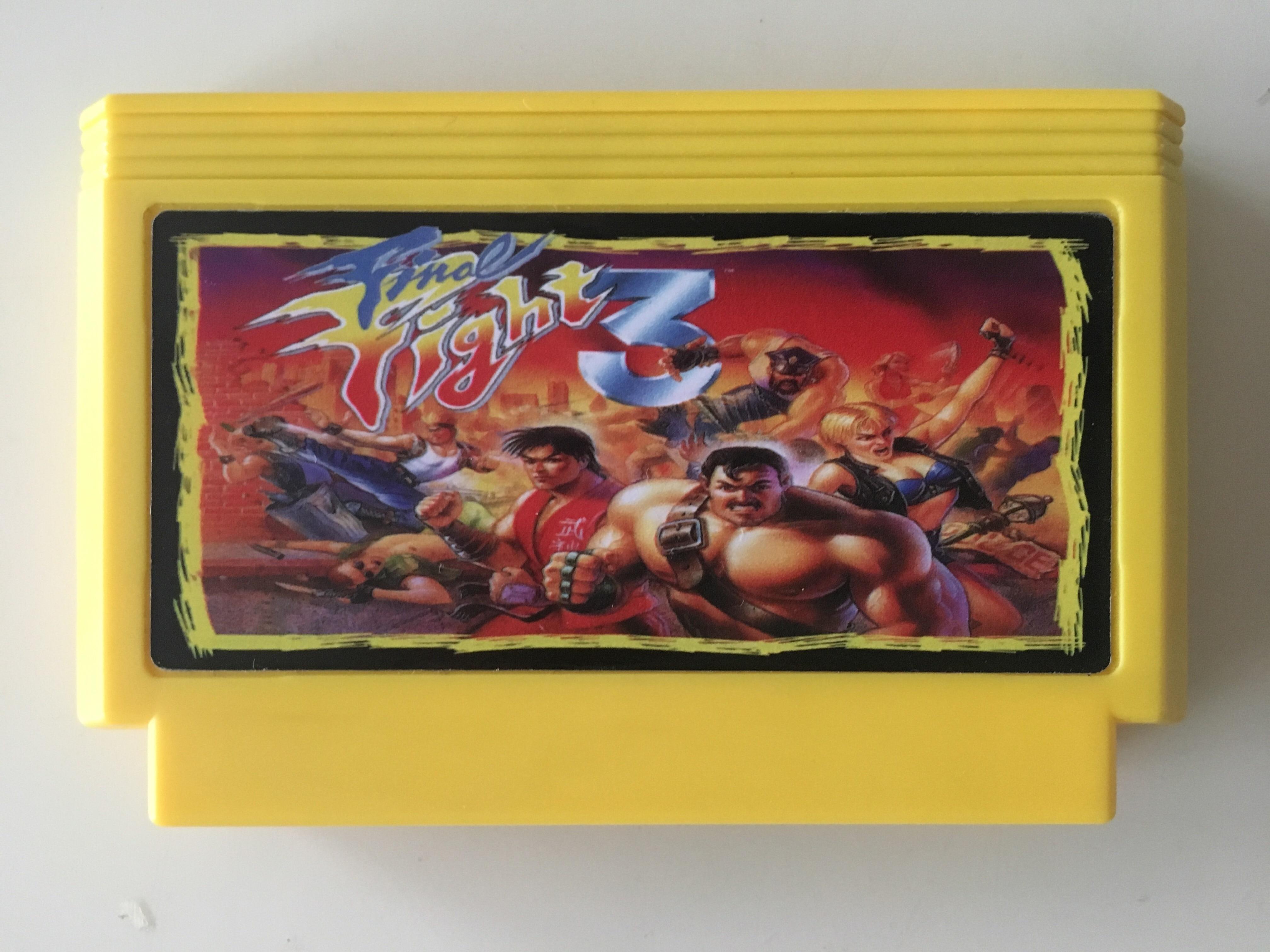 ¡Tarjeta de juego de 8 bits Final Fight 3 (versión de Japón! ¡Solo cartucho!)