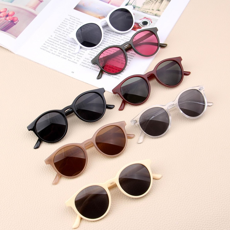 MYT_0122 Kids Sunglasses Boys Retro Children Sunglasses Girls Sun Glasses Vintage Baby Oculos simple
