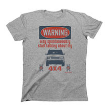 2019 Fashion Mens Car T-Shirt WARNING May Spontaneously Talk About 4x4 British car fans Discovery Tee shirt